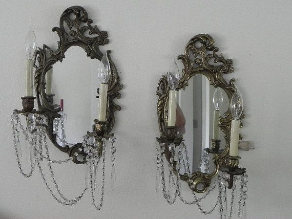 Mirror Sconces Wall Decor: French Mirrored Wall Sconces
