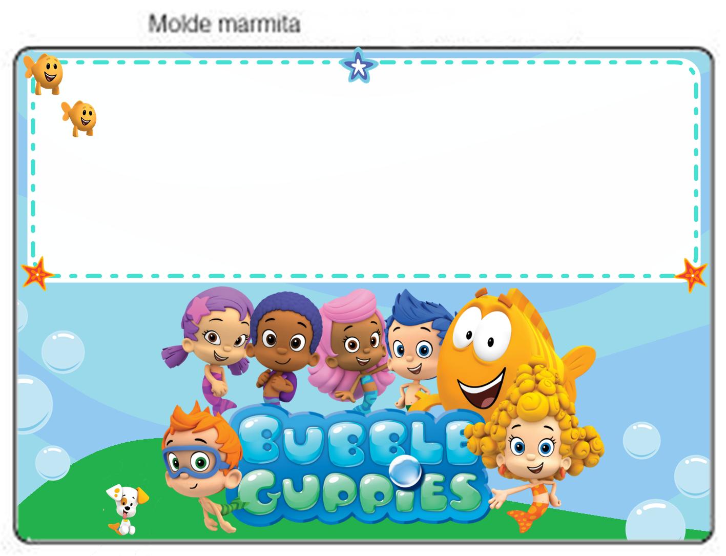 KIT DE PERSONALIZADOS TEMA BUBBLE GUPPIES | Bubble guppies, Guppy ...