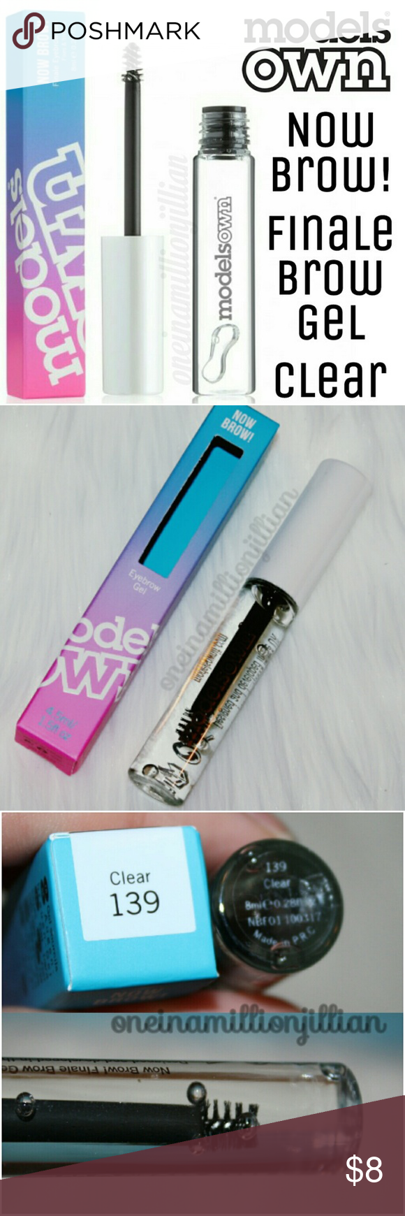 Models Own Now Brow! Finale Brow Gel Clear New in Box