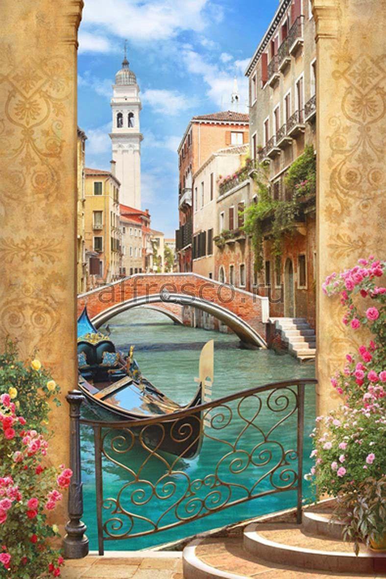 Бесшовная фреска с пейзажем | Фотообои, Пейзажи, Фрески