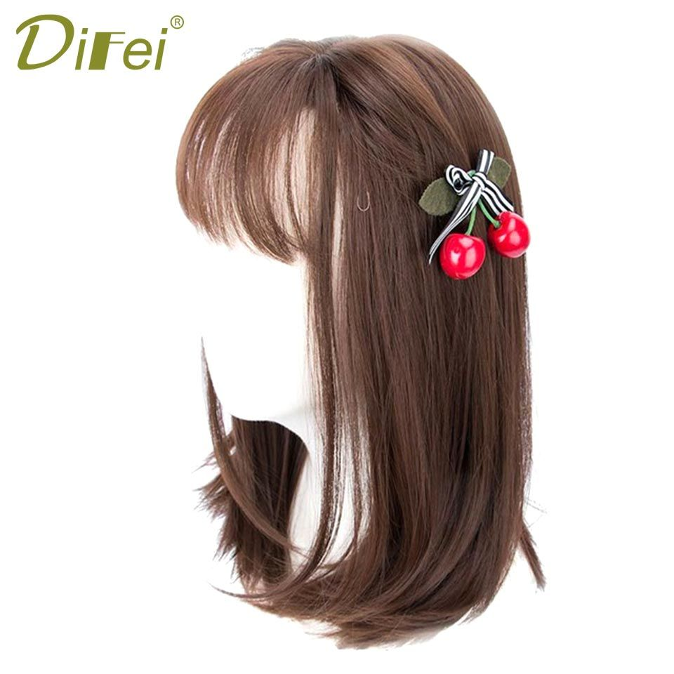 Difei brown bob hair wigs for women heat resistant