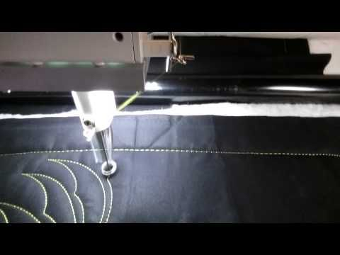 FMQ101 ( Video #34 - Scimitar Feather) Longarm Free Motion ... : youtube machine quilting videos - Adamdwight.com