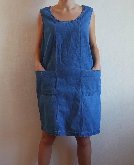 9b4c41a916c Vintage denim dress women Blue sarafan dress Shirt dress for women Denim  dress Womens jeans tunic Su