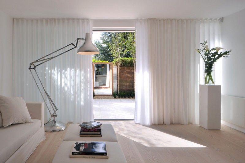 Sliding Glass Door Drapes Scandinavian Living Room Satin Steel Floor Lamp Ottoman White Couch Of Pretty Sli Home Curtains Minimalist Curtains Floor Lamp Styles