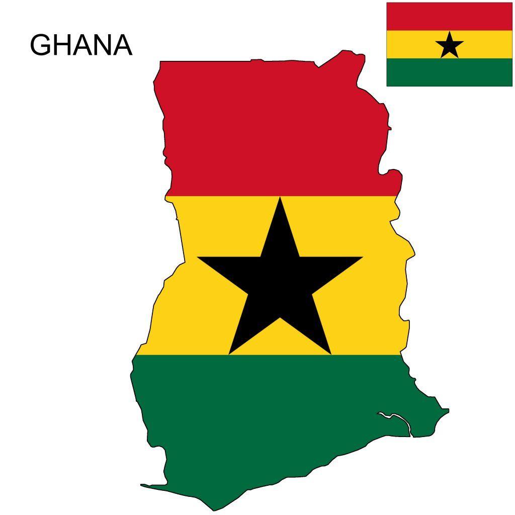 Ghana Flag Map Ghana Flag Ghana Flag