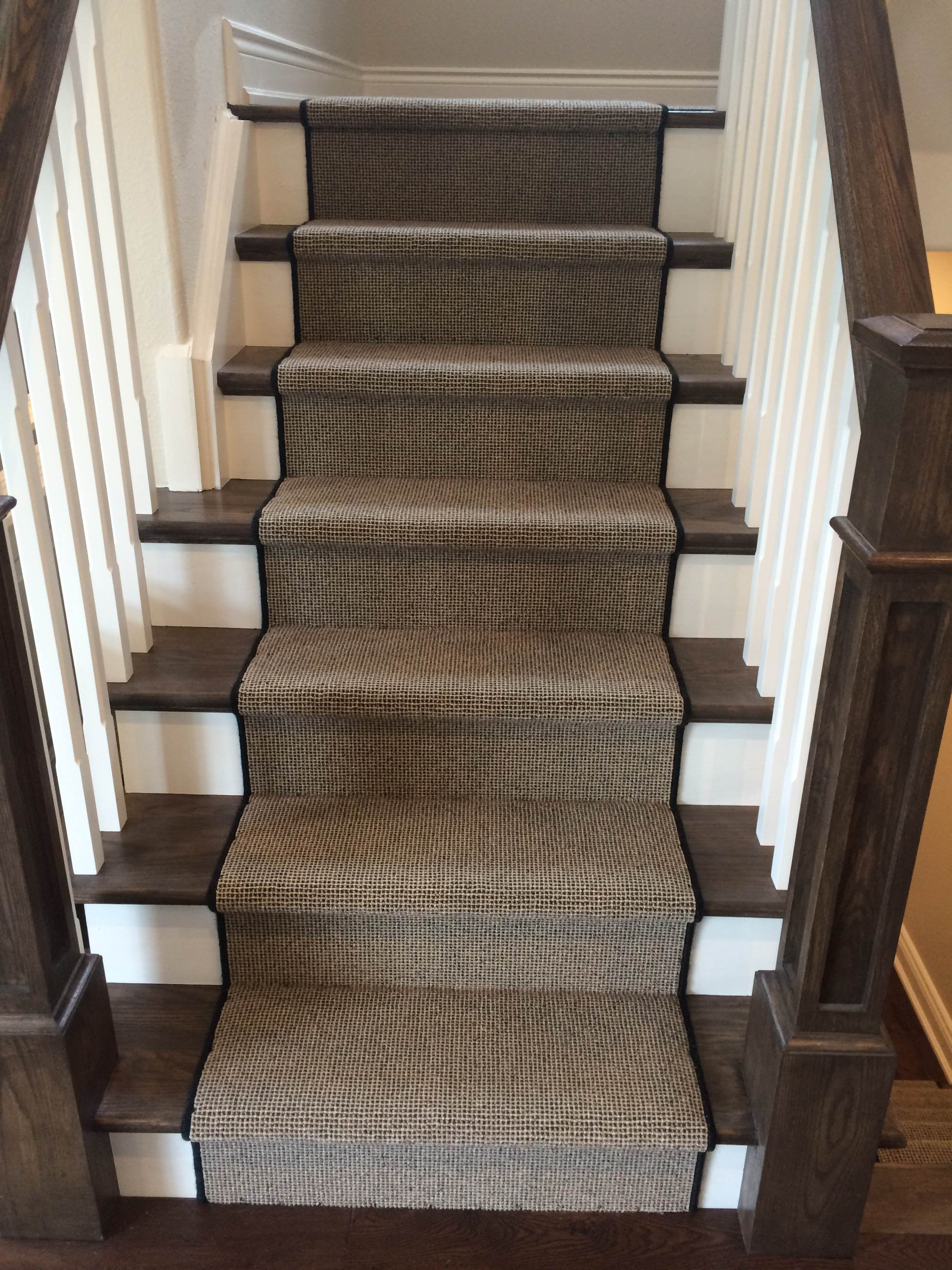 Alexanian S Custom Staircase Project This Carpet Is A Godfrey | Low Pile Carpet For Stairs | Laminate | Unusual | Looped | Antelope | Bedroom