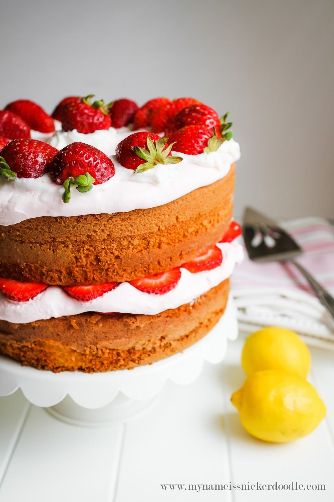 Strawberry Lemonade Cake - My Name Is Snickerdoodle