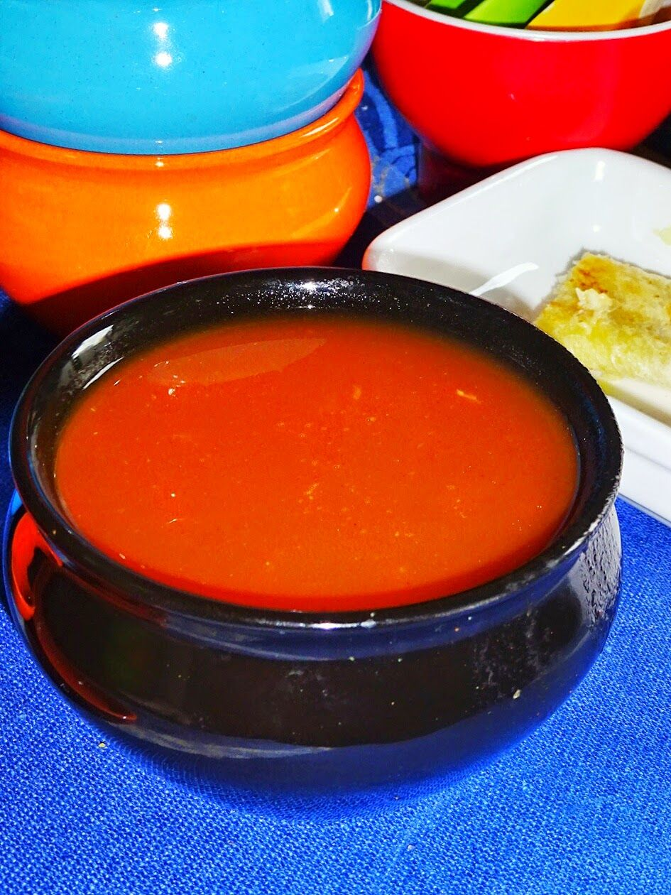 Veg Indian Good Food Recipes..: Quick and Easy Tomato Soup Recipe with Cheese Bread Roll ups