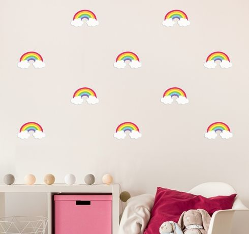 Mini Rainbow Wall Decals