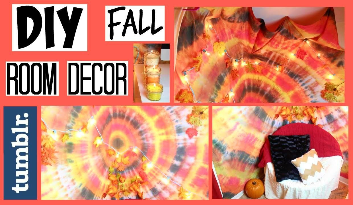 DIY Tumblr Fall Room Decor (Tapestry, Candles & Decorations) - HowToByJordan images