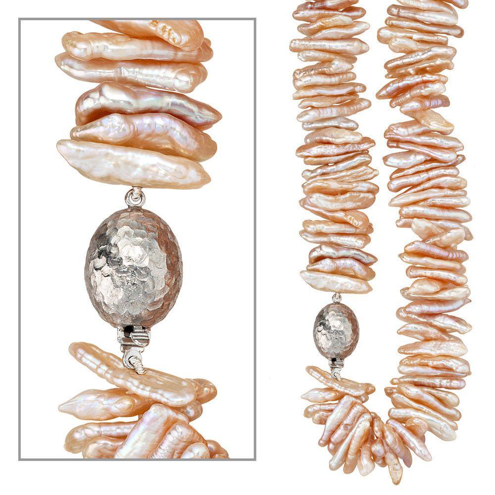 Collier Süßwasser Perle 925 Sterling Silber rhodiniert 45 cm A31661