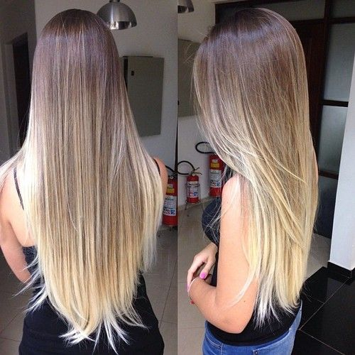 Long blonde #ombre