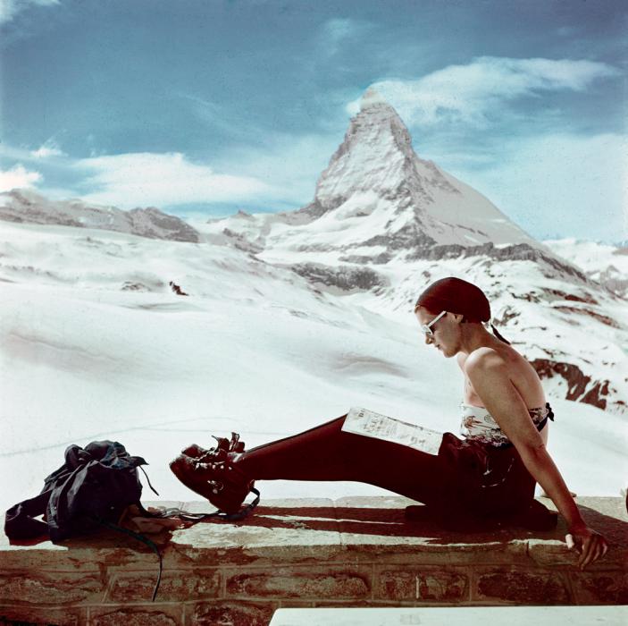 Photos: Robert Capa's Color Pictures of International Ski Resorts | Vanity Fair mATYERHORM ZERMATT