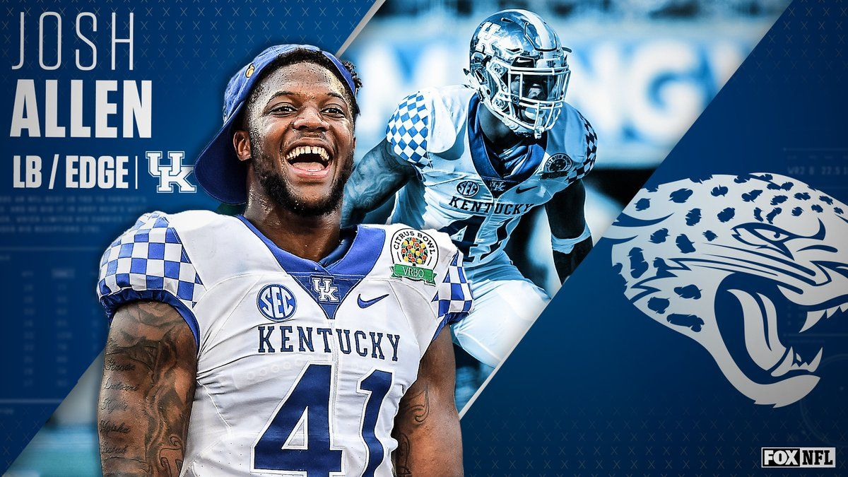 With The 7th Pick In The 2019 Nfl Draft The Jacksonville Jaguars Select Lb Edge Josh Allen Nfl Nfl Draft Jacksonville Jaguars