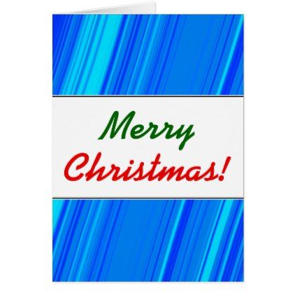 """""""Merry Christmas!""""  Blue and Cyan Lines Pattern Card - pattern sample design template diy cyo customize"""