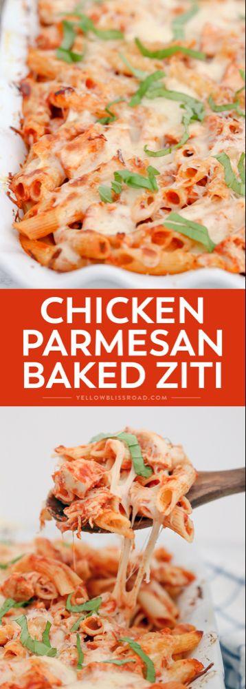 Chicken Parmesan Baked Ziti - Easy Weeknight Meal