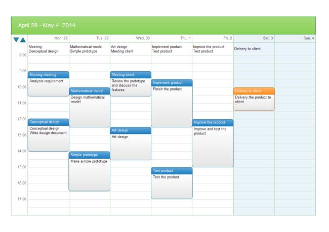 Calendar Schedule Templates Project Management Templates Schedule Template