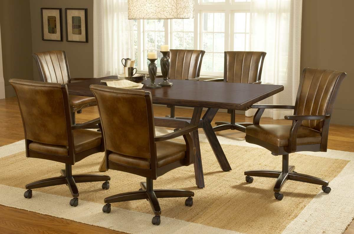 Dining Room Table With Roller Chairs Swivel Dining Chairs Dining Room Chairs Upholstered Dining Room Sets
