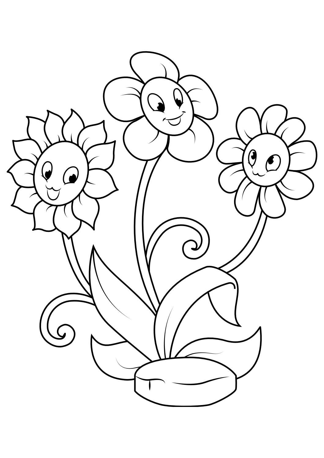 Flower Coloring Pages Printable Coloring Book For Kids Printable Flower Coloring Pages Flower Coloring Pages Flower Coloring Sheets