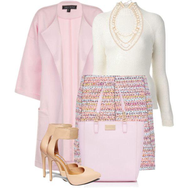 """Pink Coat"" by debpat on Polyvore"