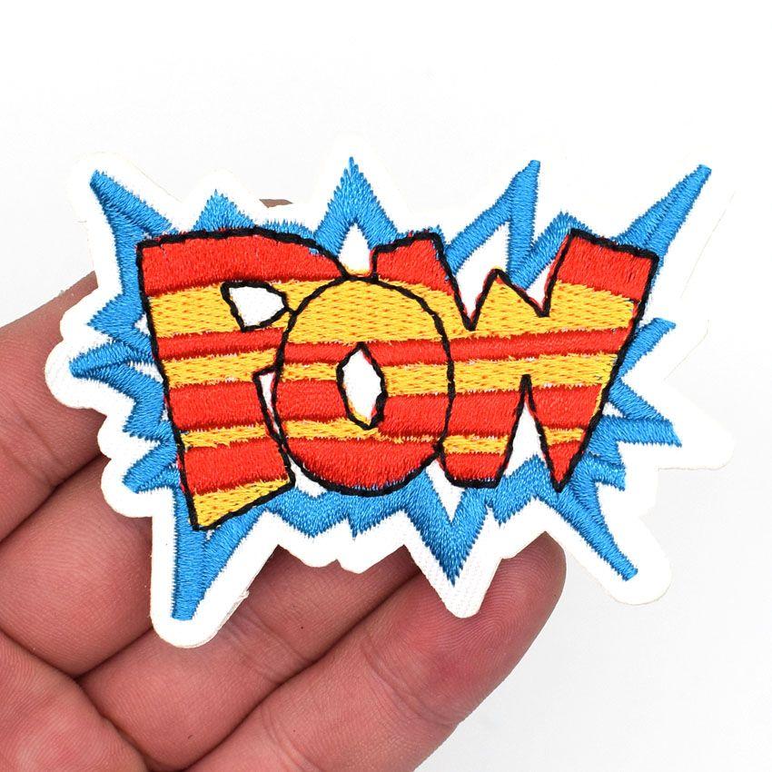POW! Comic Cartoon Action Fighting Art DIY Kids Super Hero Clothing Iron On Pow Patch #Affiliate