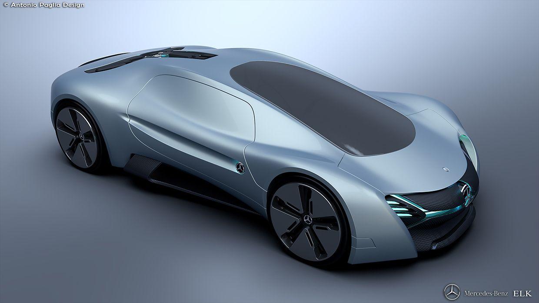 Mercedes Benz Elk Fits The Future Ev Supercar Bill Carscoops Concept Cars Mercedes Electric Car Supercar Design