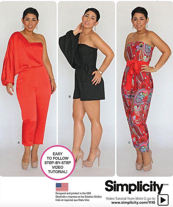 JUMPSUIT Sewing Pattern ~ Mimi G Style PLUS SIZE Long & Short ...