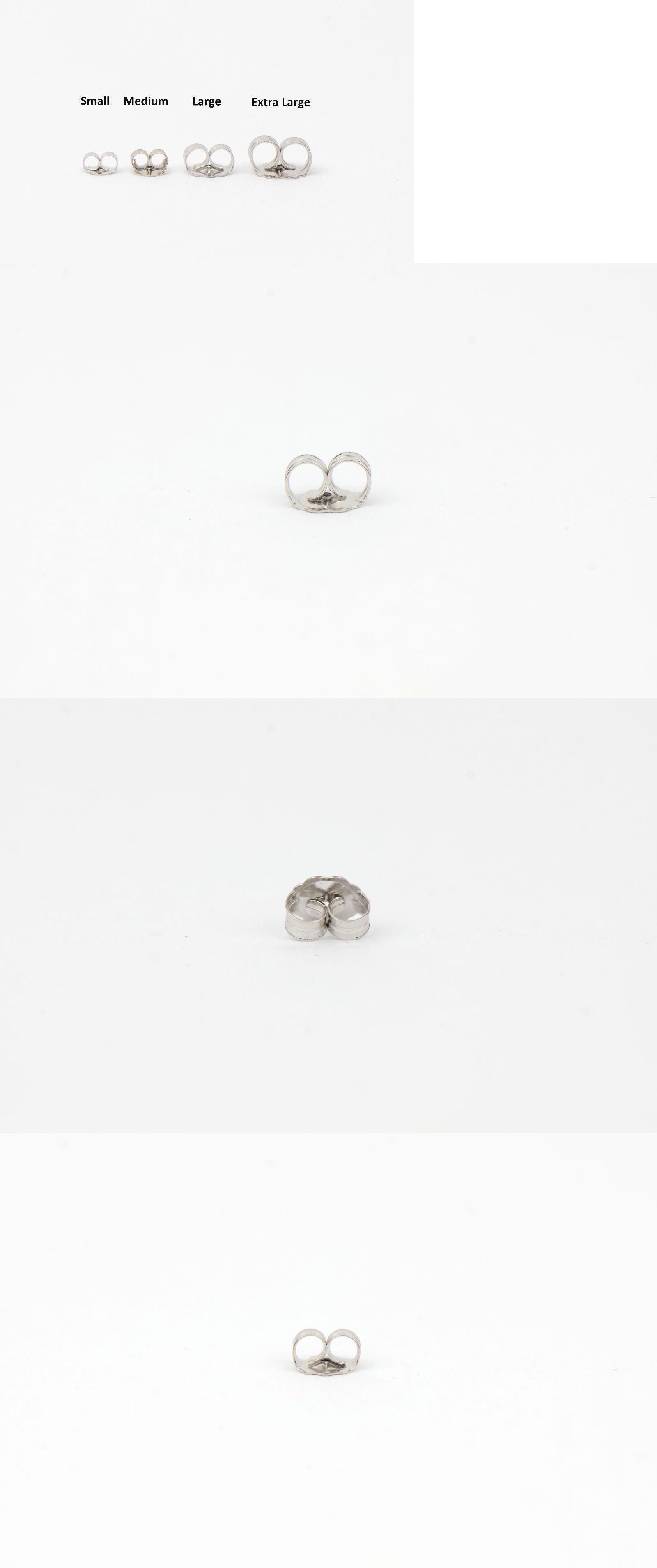 Earring Findings 150051 14k White Gold Push Back Erfly Backing Small Medium Large By Pc It Now Only 10 99 On Ebay