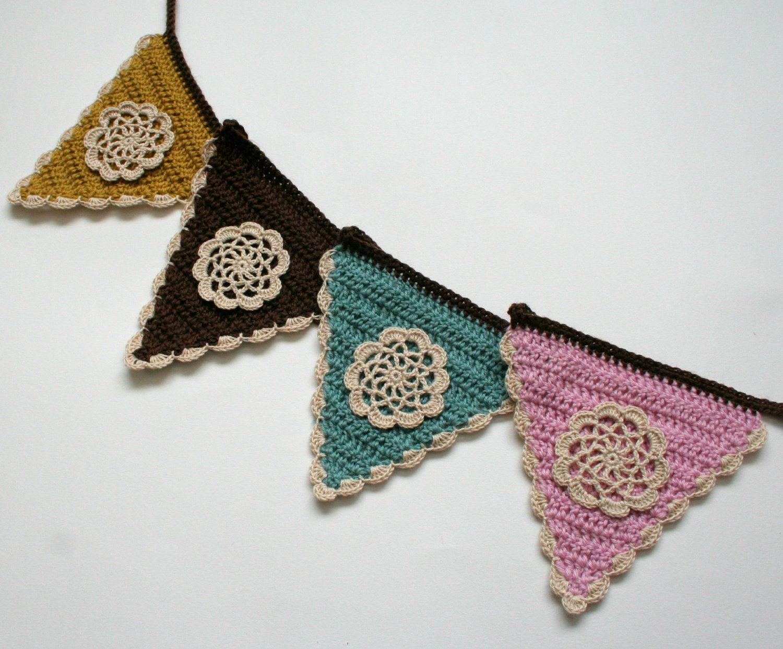 Crochet Bunting Pattern, PDF download, DIY tutorial, | Crochet y ...