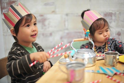 washi party crowns | The Paper Playhouse