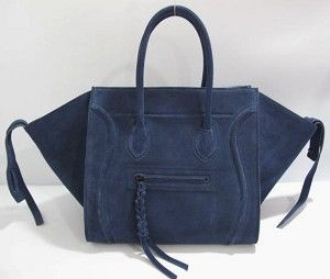 Celine Phantom Navy Suede I Want This Bag Bags