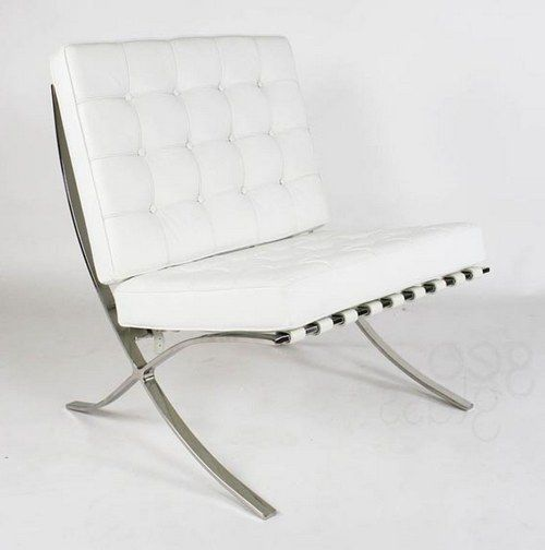 Charmant White Leather Chair Ikea