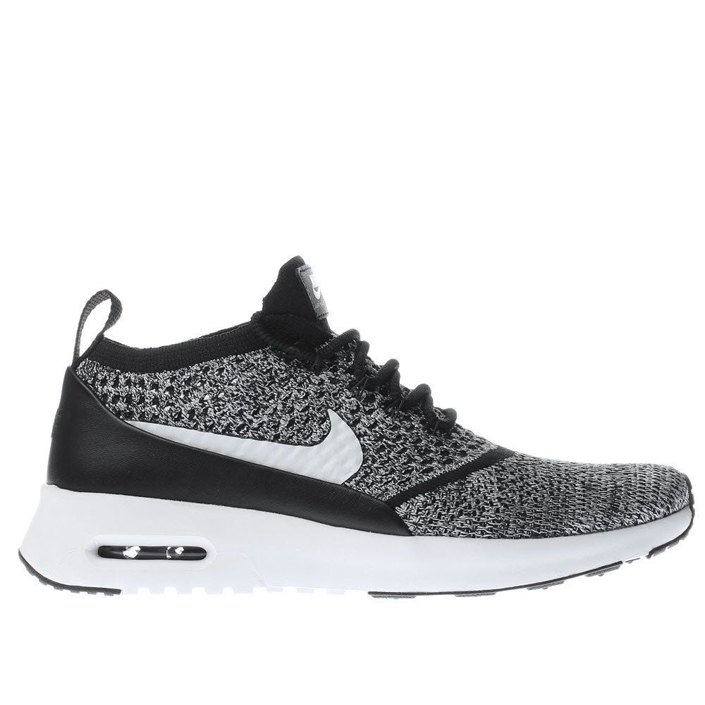 6b98aa20563e Womens Black   White Nike Air Max Thea Ultra Flyknit Trainers ...