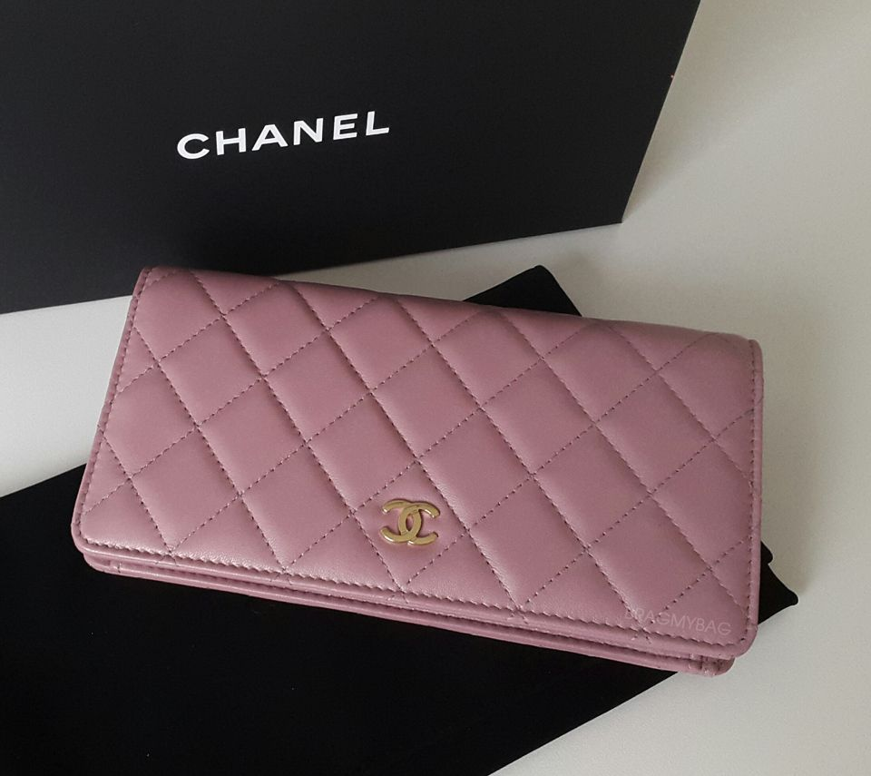c846550b7c0f Shopping with Emmy: Chanel Pink Rose Gold Bi-fold Quilted Wallet and the GST