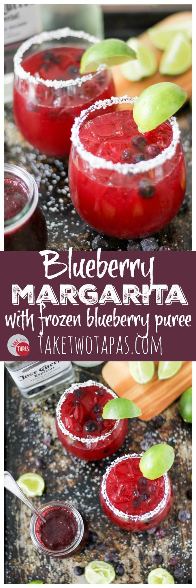 Blueberry Margaritas For A Cool Cocktail Blueberry Margarita Recipe Take Two Tapas Cocktails Blueberry Margarita Cocktail Recipes Easy Margarita Recipes