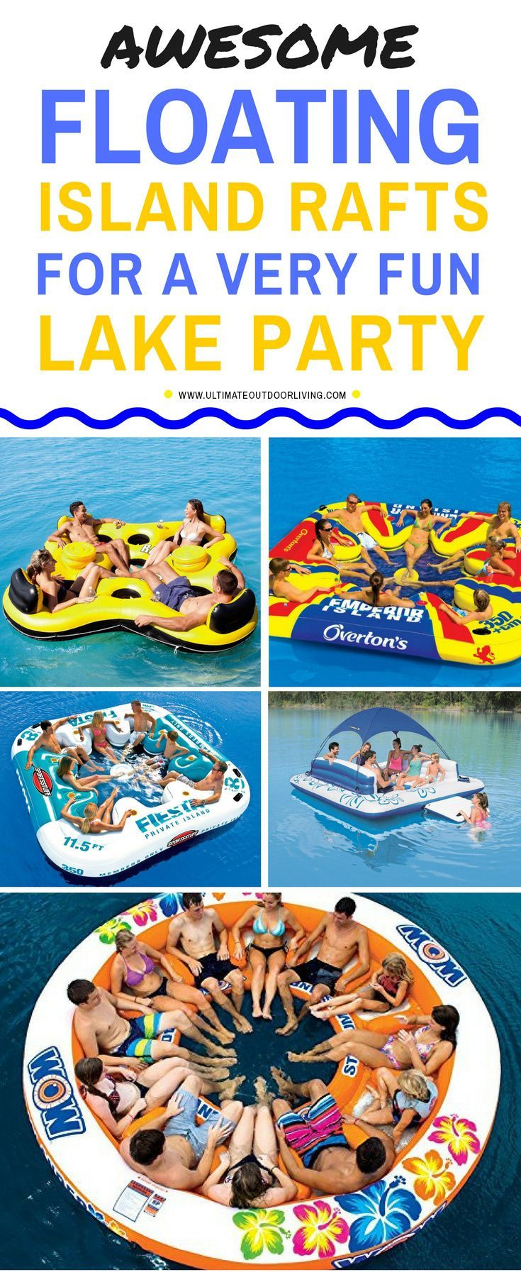 Awesome large floats for the lake  for a fun lake party. These floats can hav…