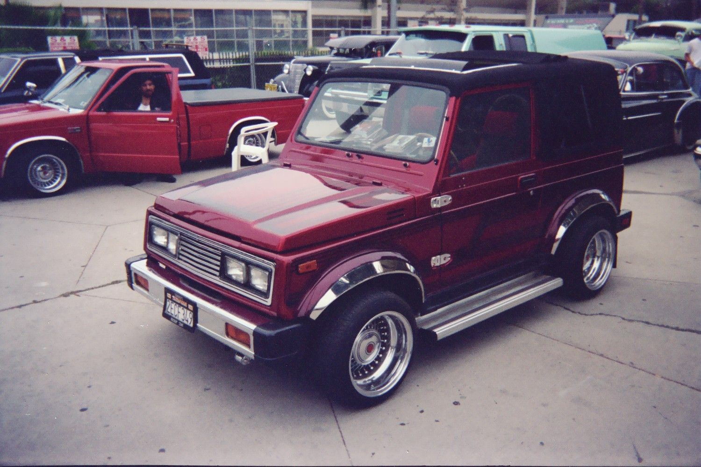 Suzuki: SUZUKI SAMURAI Lowrider Auto Car Funny Red Custom ...