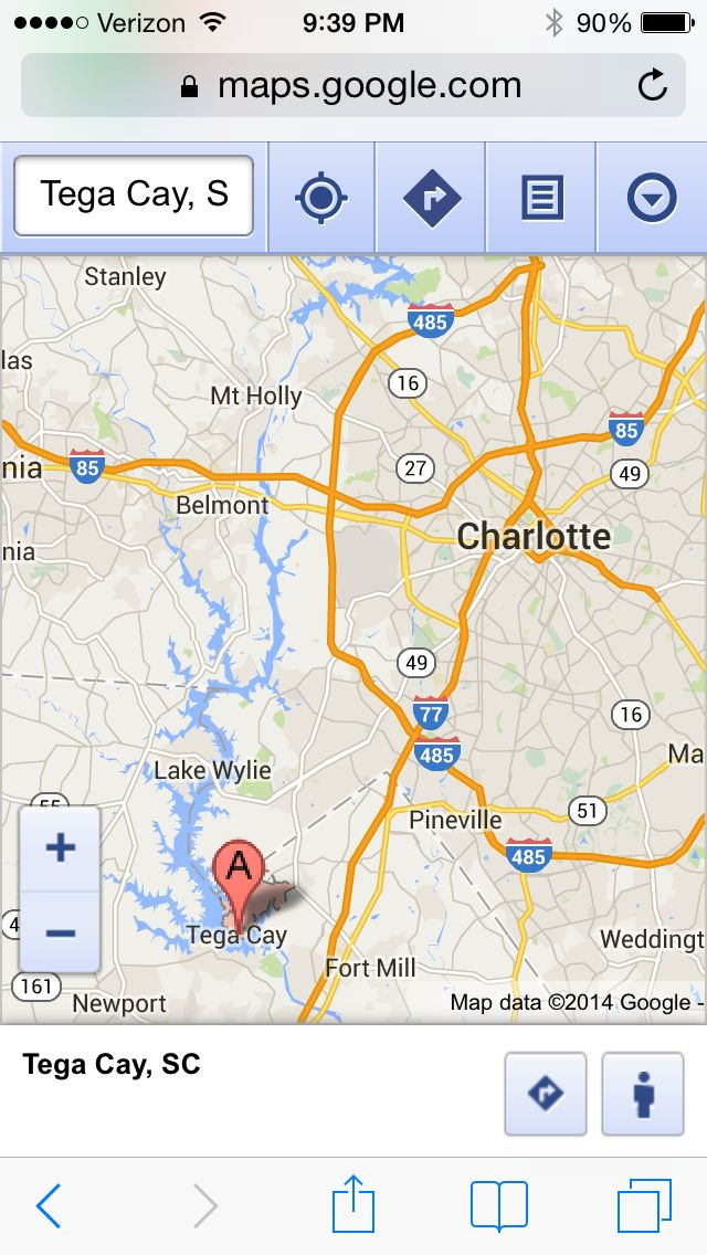 Charlotte Georgia Map.Tega Cay Sc Is Located Just South Of Charlotte Nc Lake Wylie