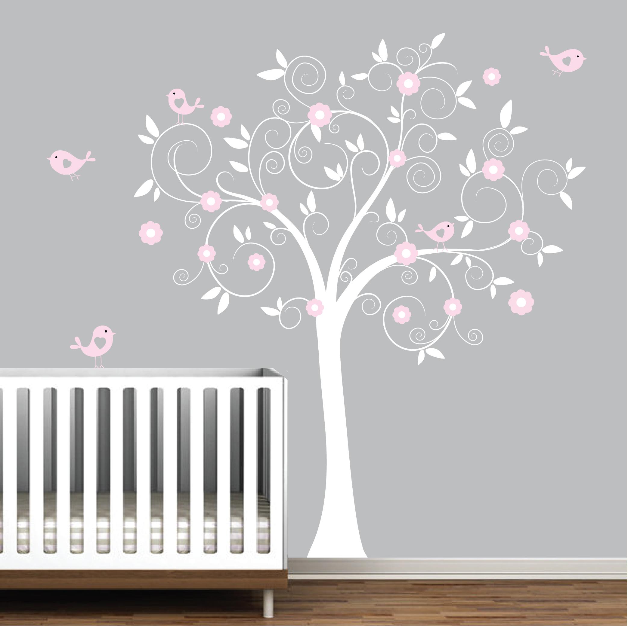 Tree Kitchen Birdcage Wall Stickers Bird Nursery Bedroom Child Nursery