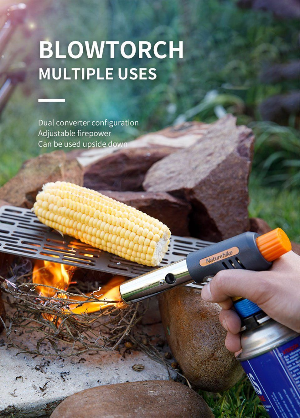 Naturehike Clip-on Type Spiral Type Air Gun Igniter For Baking Outdoor Picnic Household Fire Gun Airbrush Brand Name: NaturehikeWith Ignition Device or Not: IncludedDisposable: NoModel: NH19CJ005Fuel: ButanePiece Number Of Wind Deflector: No wind shieldApplicable Seasoning Type: Liquid SeasoningMaterial: MetalStructure: SPLITType: airbrushNumber of Users: 3-5Application Method: ManualUsage Condition: Normal OutdoorColor: Orange with grayAdapter: Clip-on Type Spiral TypeInstructions: InvertableFi