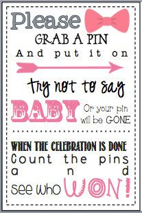 Baby Shower Clothes Pin Game Baby Shower Game Printable Ready To Go  Pinterest  Baby Shower