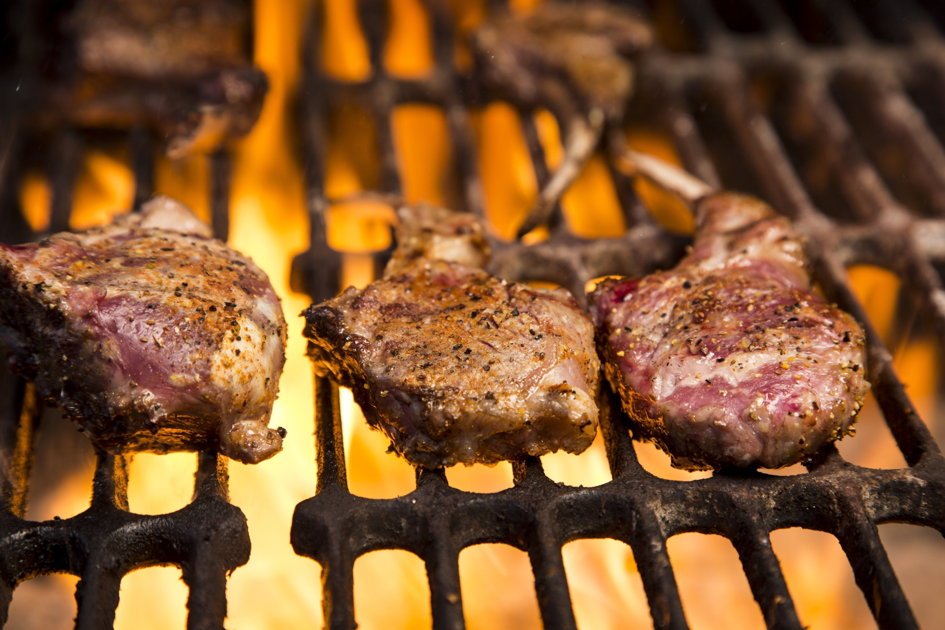 Moroccan Grilled Lamb Chops With Garlic Mint And Spices Recipe