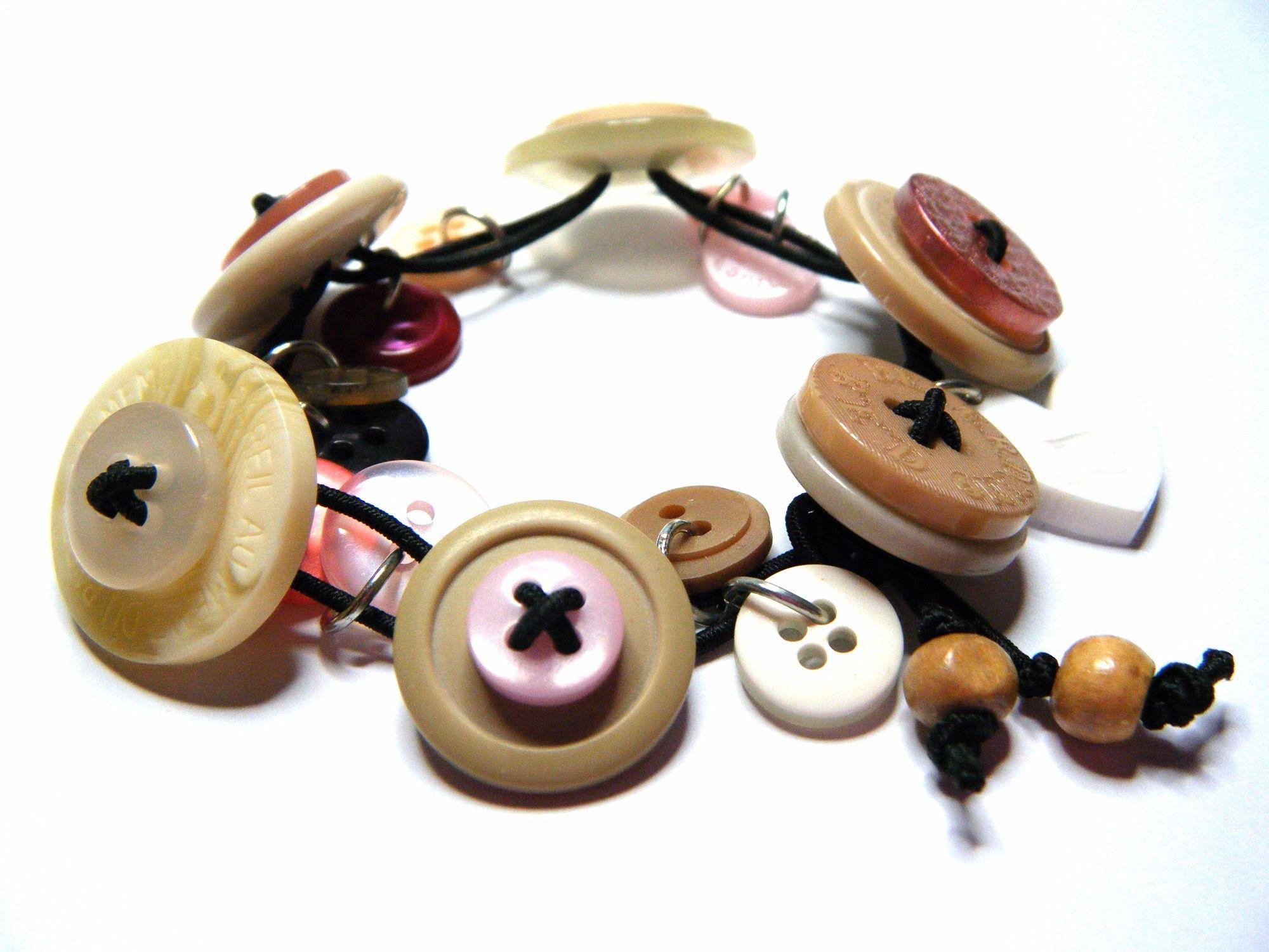 Stretch Button Charm Bracelet