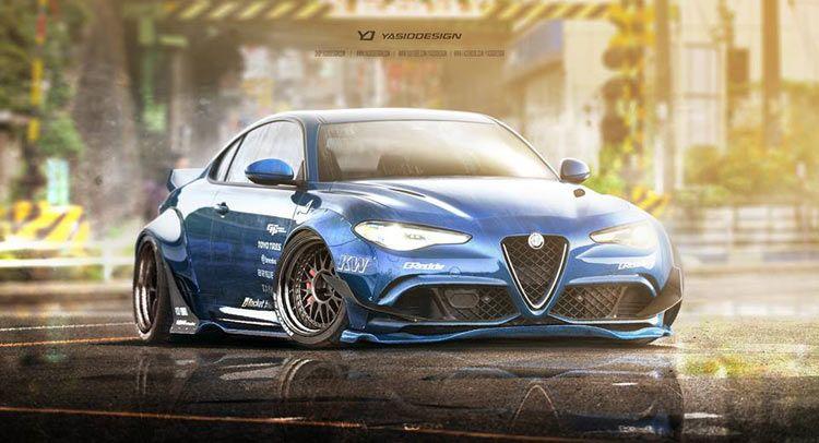 Alfa Romeo Giulia Loses Two Doors Gains Wide Body Kit Alfa