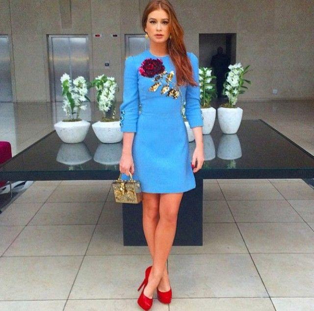 Marina Ruy Barbosa foi a convidada especial da inauguração da mais nova  loja da Dolce   Gabbana no Brasil 4edca3a6fe