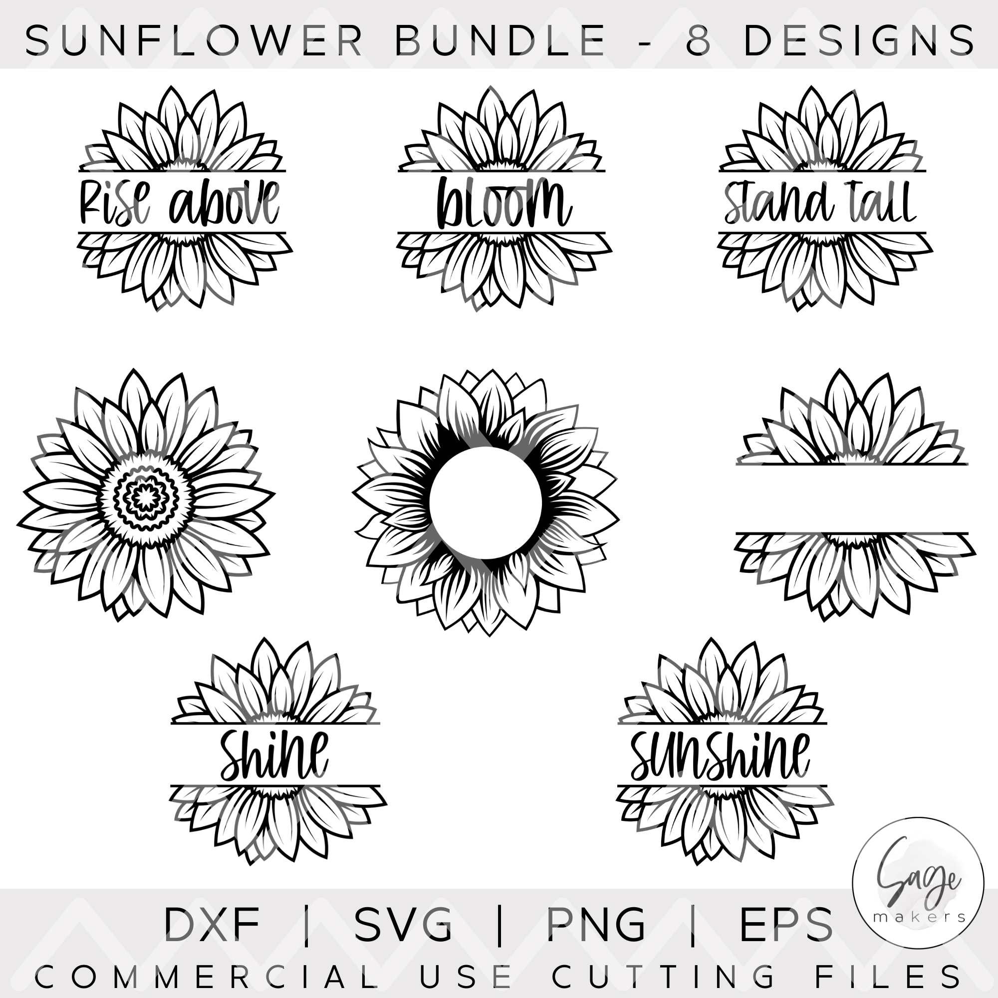 Sunflower SVG Bundle in 2020 T shirt design template