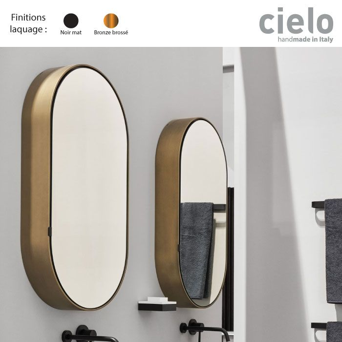 Armoire Miroir Murale Design Ovale 90x50 Cadre Metal I Catini Cielo Salle De Bain Art Deco Armoire De Toilette Salle De Toilette