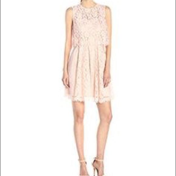 Gorgeous Pop Over Blush Pink Dress. Never Worn.