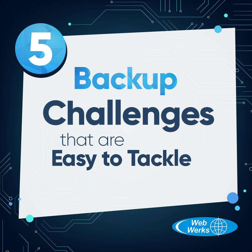 Five backup challenges that are easy to tackle Disaster