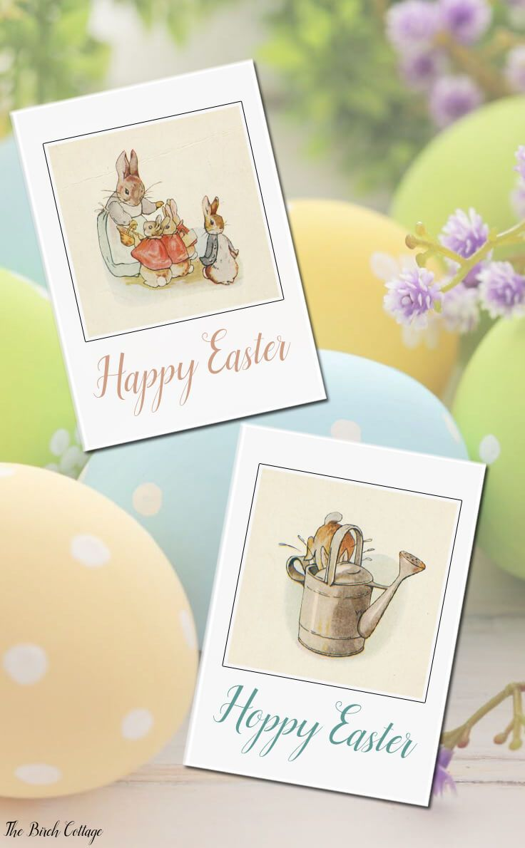 Download Your Free Printable Vintage Easter Cards | Vintage easter ...